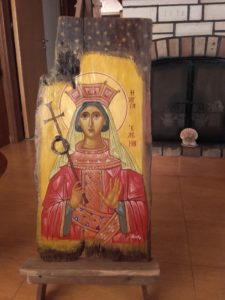αγία ελένη - αγιογραφία - saints portraits - handicraftcyprus.com - όλα τα είδη χειροτεχνημάτων του εργαστηρίου μας. χειροποίητα δώρα, τάβλια με σκάλισμα και πυρογραφία, σκάκια σκαλιστά, ξύλινα ρολόγια με σκάλισμα, παιδικά κρεμμασταράκια με παιδικούς ήρωες, ξύλινες φιγούρες και σχήματα, σχέδιο με πυρογράφο σε νεροκολοκύθες, μπομπονιέρες βάφτισης, μπομπονιέρες γάμου γάμων, επιχειρηματικά δώρα, ξεχωριστά δώρα επιχειρήσεων, παλαίωση φωτογραφίας, μπαούλα σκαλιστά, κρεμμασταράκια τοίχου για κλειδιά, κρεμμαστάρια ρούχων σκαλιστά, σκαλιστές κορνίζες, χειροποίητοι καθρέφτες με σκάλισμα, εικόνες αγίων με σκάλισμα, παλαιωμένες εικόνες αγίων, διακοσμητικά είδη χειροποίητα, αξεσουάρ γραφείου, σχέδια σε ξύλο, ξυλογλυπτική, παλαίωση εικόνων, αγιογραφίες, πυρογραφία, χαλκογραφία, κορνίζες, καθρέφτες, χειροποίητα, βάφτιση, γάμος, επέτειος, Πάφος, Λευκωσία, Λεμεσός, Λάρνακα.