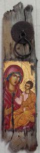 παναγία σε παλαιό παράθυρο - αγιογραφία - saints portraits - handicraftcyprus.com - όλα τα είδη χειροτεχνημάτων του εργαστηρίου μας. χειροποίητα δώρα, τάβλια με σκάλισμα και πυρογραφία, σκάκια σκαλιστά, ξύλινα ρολόγια με σκάλισμα, παιδικά κρεμμασταράκια με παιδικούς ήρωες, ξύλινες φιγούρες και σχήματα, σχέδιο με πυρογράφο σε νεροκολοκύθες, μπομπονιέρες βάφτισης, μπομπονιέρες γάμου γάμων, επιχειρηματικά δώρα, ξεχωριστά δώρα επιχειρήσεων, παλαίωση φωτογραφίας, μπαούλα σκαλιστά, κρεμμασταράκια τοίχου για κλειδιά, κρεμμαστάρια ρούχων σκαλιστά, σκαλιστές κορνίζες, χειροποίητοι καθρέφτες με σκάλισμα, εικόνες αγίων με σκάλισμα, παλαιωμένες εικόνες αγίων, διακοσμητικά είδη χειροποίητα, αξεσουάρ γραφείου, σχέδια σε ξύλο, ξυλογλυπτική, παλαίωση εικόνων, αγιογραφίες, πυρογραφία, χαλκογραφία, κορνίζες, καθρέφτες, χειροποίητα, βάφτιση, γάμος, επέτειος, Πάφος, Λευκωσία, Λεμεσός, Λάρνακα.