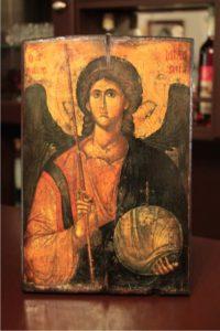 άγιος αρχάγγελος μιχαήλ - παλαίωση εικόνας αγίου σε ξύλο - aged religious icons on wood - handicraftcyprus.com - όλα τα είδη χειροτεχνημάτων του εργαστηρίου μας. χειροποίητα δώρα, τάβλια με σκάλισμα και πυρογραφία, σκάκια σκαλιστά, ξύλινα ρολόγια με σκάλισμα, παιδικά κρεμμασταράκια με παιδικούς ήρωες, ξύλινες φιγούρες και σχήματα, σχέδιο με πυρογράφο σε νεροκολοκύθες, μπομπονιέρες βάφτισης, μπομπονιέρες γάμου γάμων, επιχειρηματικά δώρα, ξεχωριστά δώρα επιχειρήσεων, παλαίωση φωτογραφίας, μπαούλα σκαλιστά, κρεμμασταράκια τοίχου για κλειδιά, κρεμμαστάρια ρούχων σκαλιστά, σκαλιστές κορνίζες, χειροποίητοι καθρέφτες με σκάλισμα, εικόνες αγίων με σκάλισμα, παλαιωμένες εικόνες αγίων, διακοσμητικά είδη χειροποίητα, αξεσουάρ γραφείου, σχέδια σε ξύλο, ξυλογλυπτική, παλαίωση εικόνων, αγιογραφίες, πυρογραφία, χαλκογραφία, κορνίζες, καθρέφτες, χειροποίητα, βάφτιση, γάμος, επέτειος, Πάφος, Λευκωσία, Λεμεσός, Λάρνακα.