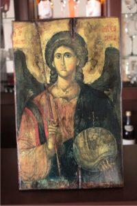 αρχάγγελος μιχαήλ - παλαίωση εικόνας αγίου σε ξύλο - aged religious icons on wood - handicraftcyprus.com - όλα τα είδη χειροτεχνημάτων του εργαστηρίου μας. χειροποίητα δώρα, τάβλια με σκάλισμα και πυρογραφία, σκάκια σκαλιστά, ξύλινα ρολόγια με σκάλισμα, παιδικά κρεμμασταράκια με παιδικούς ήρωες, ξύλινες φιγούρες και σχήματα, σχέδιο με πυρογράφο σε νεροκολοκύθες, μπομπονιέρες βάφτισης, μπομπονιέρες γάμου γάμων, επιχειρηματικά δώρα, ξεχωριστά δώρα επιχειρήσεων, παλαίωση φωτογραφίας, μπαούλα σκαλιστά, κρεμμασταράκια τοίχου για κλειδιά, κρεμμαστάρια ρούχων σκαλιστά, σκαλιστές κορνίζες, χειροποίητοι καθρέφτες με σκάλισμα, εικόνες αγίων με σκάλισμα, παλαιωμένες εικόνες αγίων, διακοσμητικά είδη χειροποίητα, αξεσουάρ γραφείου, σχέδια σε ξύλο, ξυλογλυπτική, παλαίωση εικόνων, αγιογραφίες, πυρογραφία, χαλκογραφία, κορνίζες, καθρέφτες, χειροποίητα, βάφτιση, γάμος, επέτειος, Πάφος, Λευκωσία, Λεμεσός, Λάρνακα.