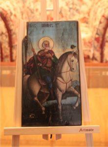 άγιος μηνάς - παλαίωση εικόνας αγίου σε ξύλο - aged religious icons on wood - handicraftcyprus.com - όλα τα είδη χειροτεχνημάτων του εργαστηρίου μας. χειροποίητα δώρα, τάβλια με σκάλισμα και πυρογραφία, σκάκια σκαλιστά, ξύλινα ρολόγια με σκάλισμα, παιδικά κρεμμασταράκια με παιδικούς ήρωες, ξύλινες φιγούρες και σχήματα, σχέδιο με πυρογράφο σε νεροκολοκύθες, μπομπονιέρες βάφτισης, μπομπονιέρες γάμου γάμων, επιχειρηματικά δώρα, ξεχωριστά δώρα επιχειρήσεων, παλαίωση φωτογραφίας, μπαούλα σκαλιστά, κρεμμασταράκια τοίχου για κλειδιά, κρεμμαστάρια ρούχων σκαλιστά, σκαλιστές κορνίζες, χειροποίητοι καθρέφτες με σκάλισμα, εικόνες αγίων με σκάλισμα, παλαιωμένες εικόνες αγίων, διακοσμητικά είδη χειροποίητα, αξεσουάρ γραφείου, σχέδια σε ξύλο, ξυλογλυπτική, παλαίωση εικόνων, αγιογραφίες, πυρογραφία, χαλκογραφία, κορνίζες, καθρέφτες, χειροποίητα, βάφτιση, γάμος, επέτειος, Πάφος, Λευκωσία, Λεμεσός, Λάρνακα.