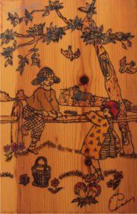 σχέδιο με πυρογραφία - ξύλινες φιγούρες και σχέδια - handicraftcyprus.com - όλα τα είδη χειροτεχνημάτων του εργαστηρίου μας. χειροποίητα δώρα, τάβλια με σκάλισμα και πυρογραφία, σκάκια σκαλιστά, ξύλινα ρολόγια με σκάλισμα, παιδικά κρεμμασταράκια με παιδικούς ήρωες, ξύλινες φιγούρες και σχήματα, σχέδιο με πυρογράφο σε νεροκολοκύθες, μπομπονιέρες βάφτισης, μπομπονιέρες γάμου γάμων, επιχειρηματικά δώρα, ξεχωριστά δώρα επιχειρήσεων, παλαίωση φωτογραφίας, μπαούλα σκαλιστά, κρεμμασταράκια τοίχου για κλειδιά, κρεμμαστάρια ρούχων σκαλιστά, σκαλιστές κορνίζες, χειροποίητοι καθρέφτες με σκάλισμα, εικόνες αγίων με σκάλισμα, παλαιωμένες εικόνες αγίων, διακοσμητικά είδη χειροποίητα, αξεσουάρ γραφείου, σχέδια σε ξύλο, ξυλογλυπτική, παλαίωση εικόνων, αγιογραφίες, πυρογραφία, χαλκογραφία, κορνίζες, καθρέφτες, χειροποίητα, βάφτιση, γάμος, επέτειος, Πάφος, Λευκωσία, Λεμεσός, Λάρνακα.