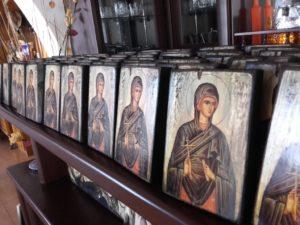 αγία ολυμπία - παλαίωση εικόνας αγίου - χειροποίητες μπομπονιέρες - handmade bonbonniere - handicraftcyprus.com - όλα τα είδη χειροτεχνημάτων του εργαστηρίου μας. χειροποίητα δώρα, τάβλια με σκάλισμα και πυρογραφία, σκάκια σκαλιστά, ξύλινα ρολόγια με σκάλισμα, παιδικά κρεμμασταράκια με παιδικούς ήρωες, ξύλινες φιγούρες και σχήματα, σχέδιο με πυρογράφο σε νεροκολοκύθες, μπομπονιέρες βάφτισης, μπομπονιέρες γάμου γάμων, επιχειρηματικά δώρα, ξεχωριστά δώρα επιχειρήσεων, παλαίωση φωτογραφίας, μπαούλα σκαλιστά, κρεμμασταράκια τοίχου για κλειδιά, κρεμμαστάρια ρούχων σκαλιστά, σκαλιστές κορνίζες, χειροποίητοι καθρέφτες με σκάλισμα, εικόνες αγίων με σκάλισμα, παλαιωμένες εικόνες αγίων, διακοσμητικά είδη χειροποίητα, αξεσουάρ γραφείου, σχέδια σε ξύλο, ξυλογλυπτική, παλαίωση εικόνων, αγιογραφίες, πυρογραφία, χαλκογραφία, κορνίζες, καθρέφτες, χειροποίητα, βάφτιση, γάμος, επέτειος, Πάφος, Λευκωσία, Λεμεσός, Λάρνακα.